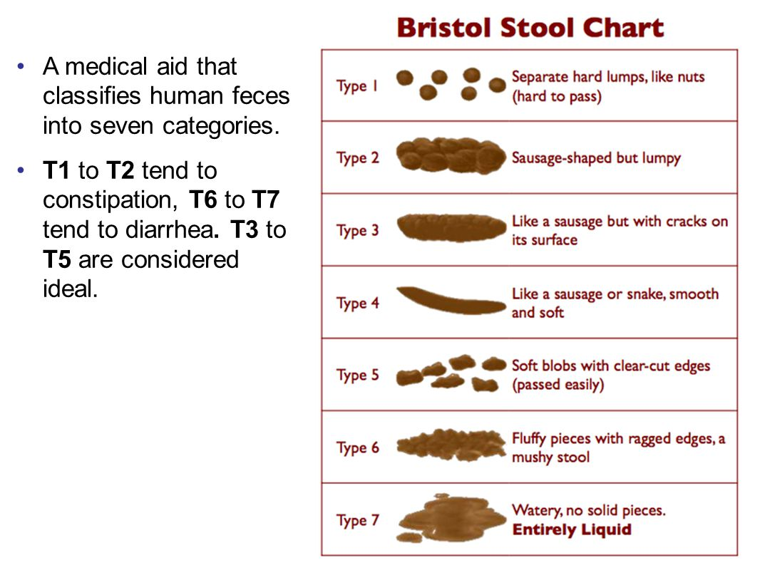 A medical aid that classifies human feces into seven categories.