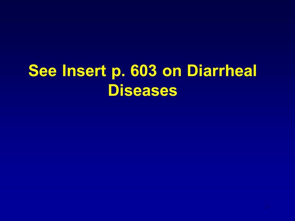 20 See Insert p. 603 on Diarrheal Diseases