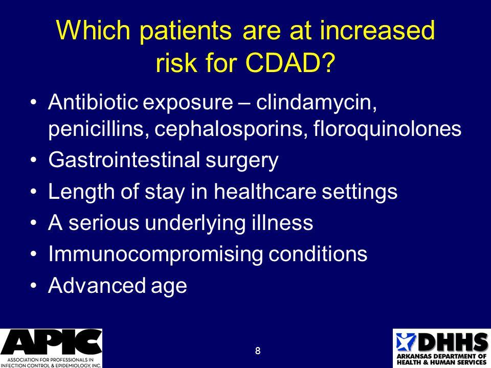 9 C.difficile colonization Patient exhibits no clinical symptoms Patient tests positive for C.