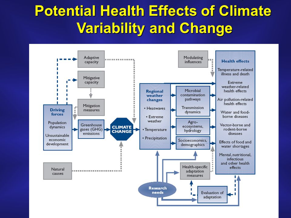 Potential Health Effects of Climate Variability and Change Variability and Change