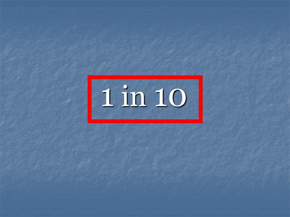 1 in 10 1 in 10
