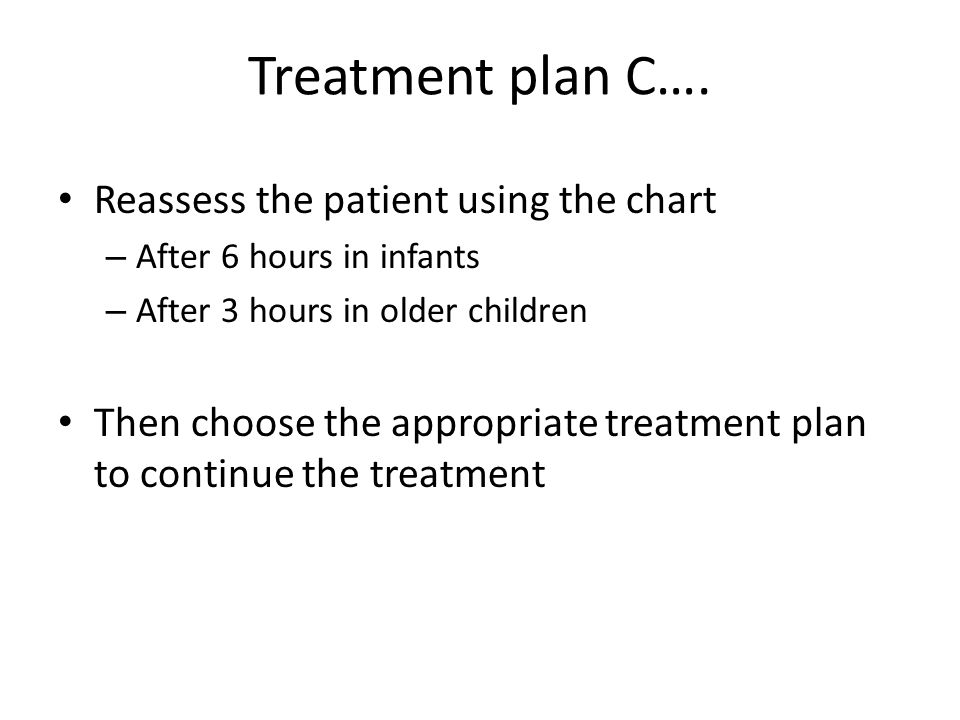 Treatment plan C….