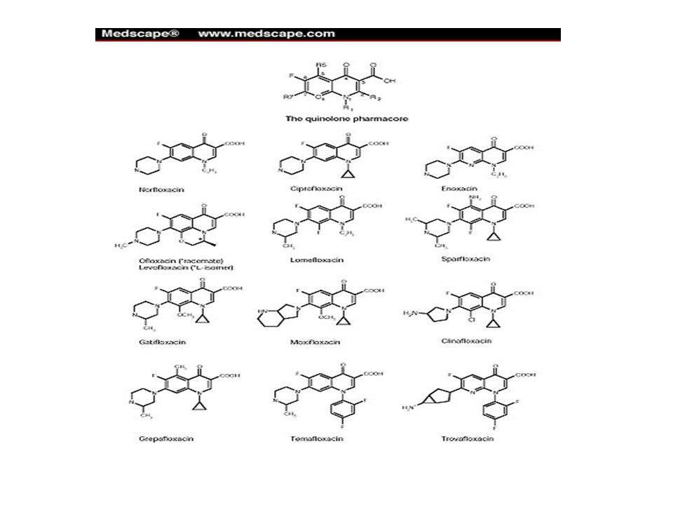 Fluoroquinolones 2 nd generation Norfloxacin (Noroxin) Used for UTI's, prostatitis Dosing: PO 400mg BID