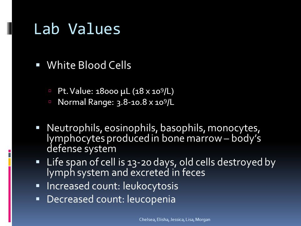 Lab Values  Arterial Blood Gas  Evaluates respiratory function  Determines: acid-base balance, if patient is in a respiratory or metabolic imbalance  Pt.