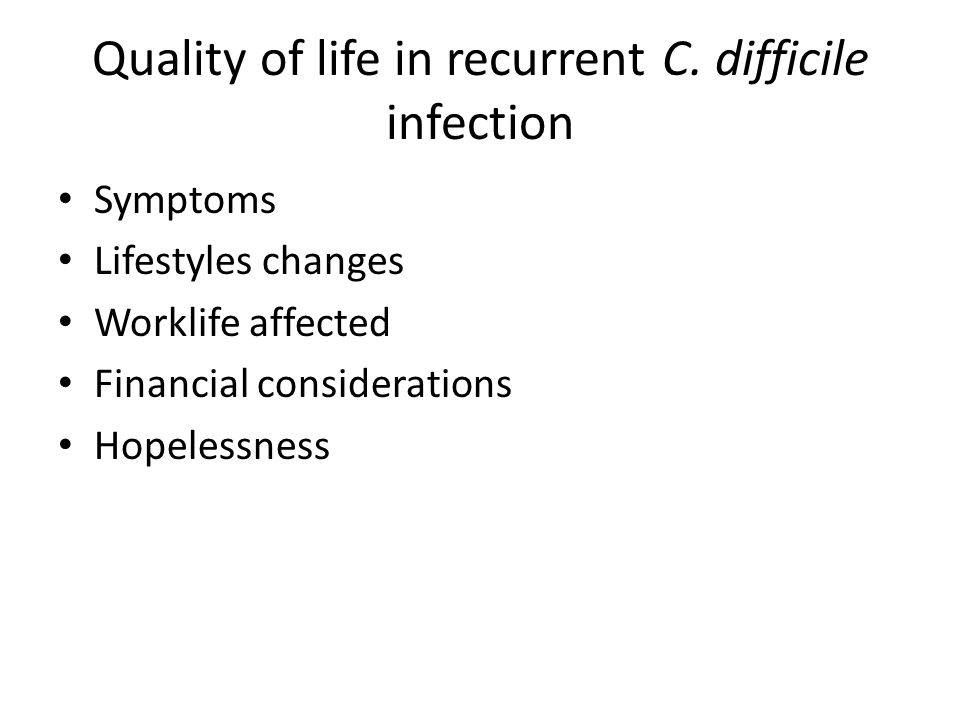 Quality of life in recurrent C.