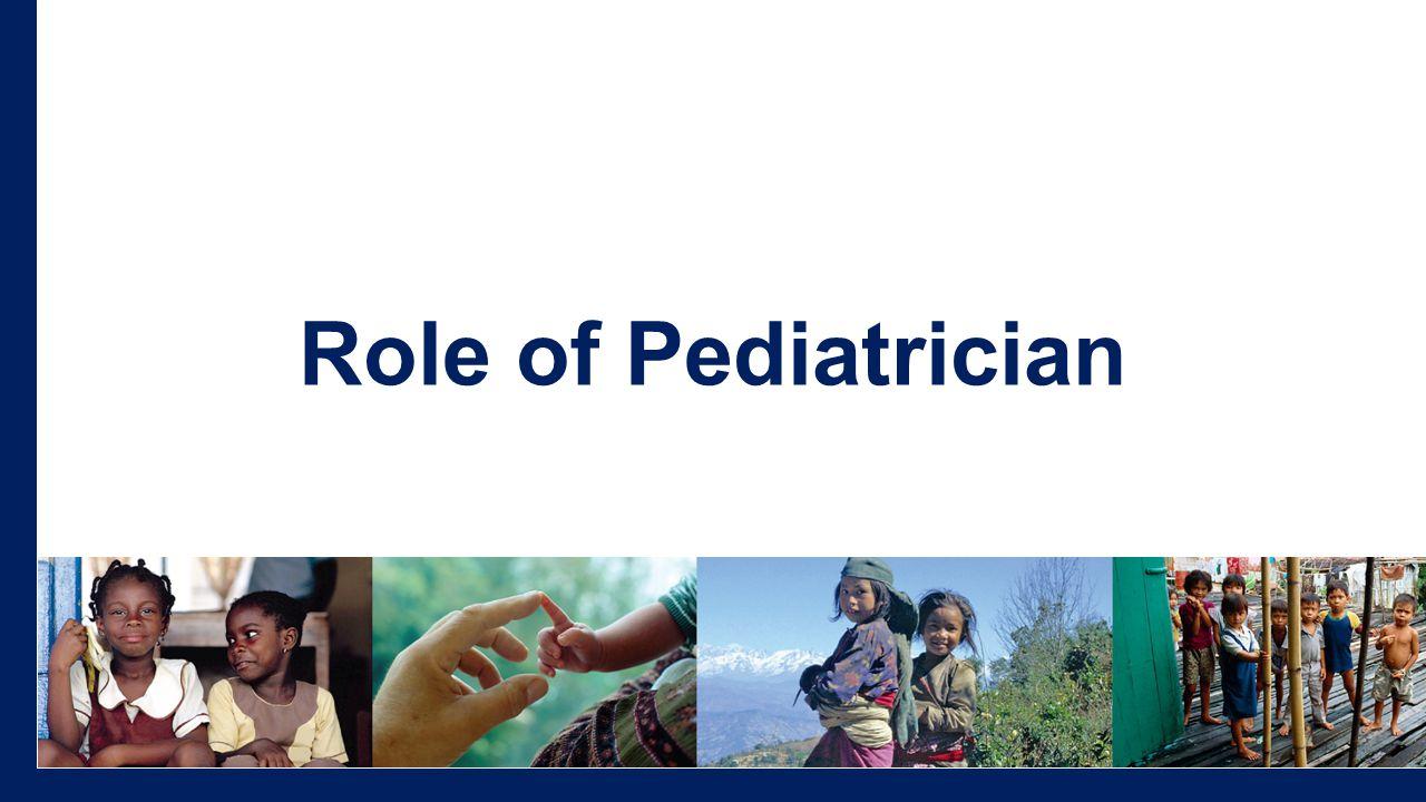 Role of Pediatrician