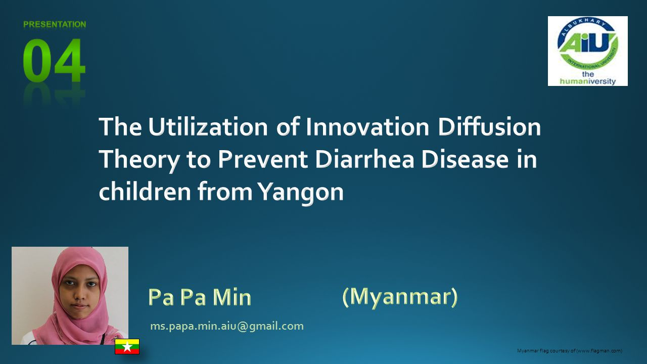 Statement of the Problem & Proposal Assumptions of the Study Statement of the Thesis Background & Urgency of the Problem Diarrhea is the second most common children disease in Myanmar.