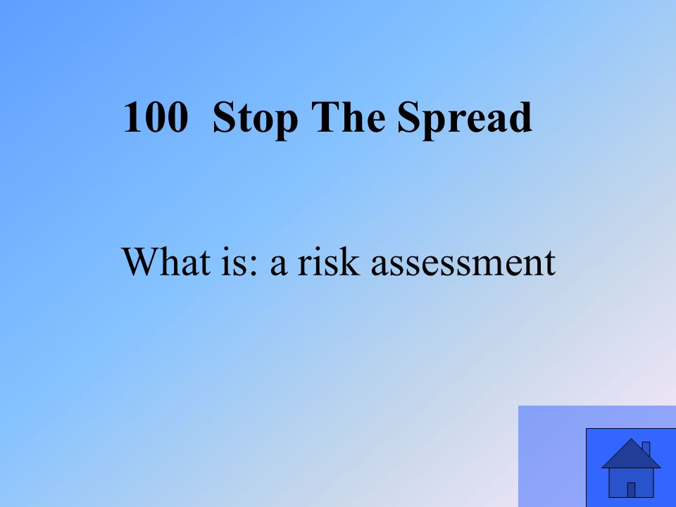 33 What is: a risk assessment 100 Stop The Spread