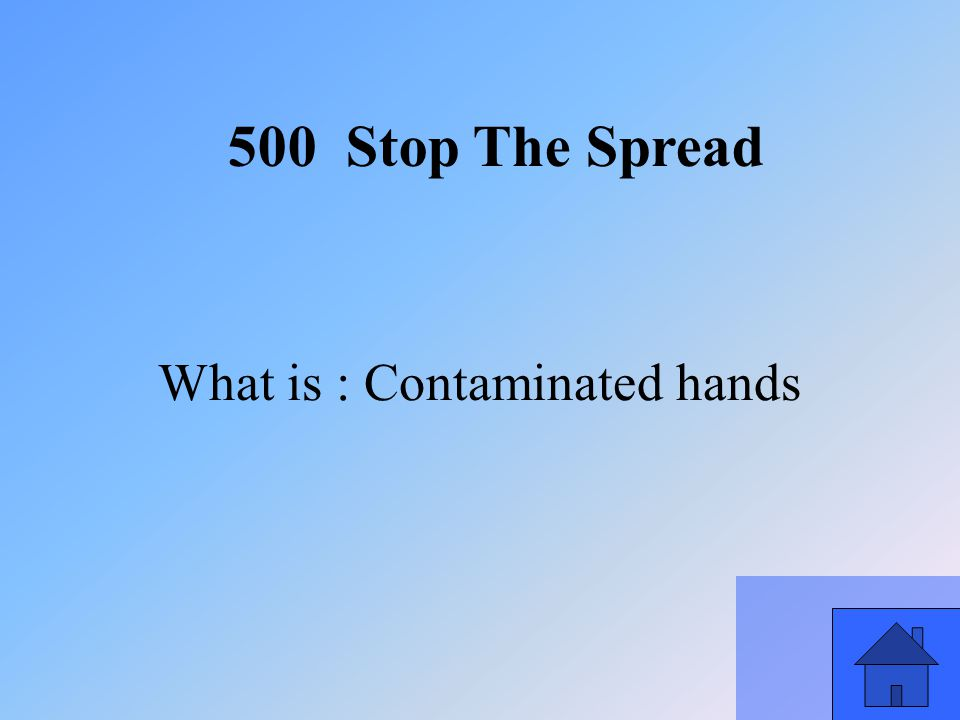 41 What is : Contaminated hands 500 Stop The Spread