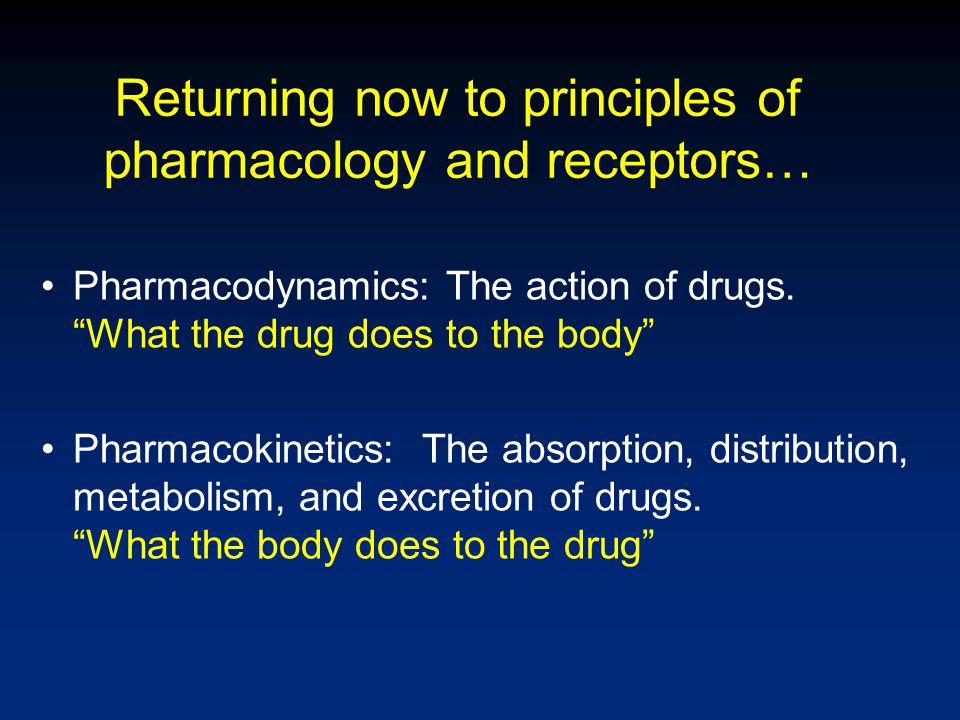 Drug Receptors A macromolecular component of a cell that interacts with a drug and initiates an effect Drug-receptor interaction determines –Structure-activity relationship –Selectivity/Stereoselectivity –Potency –Efficacy (Intrinsic Activity) –Agonist or antagonist properties