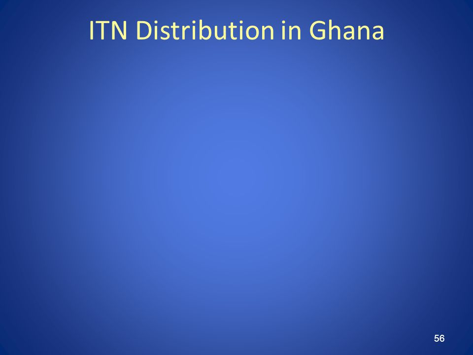 56 ITN Distribution in Ghana