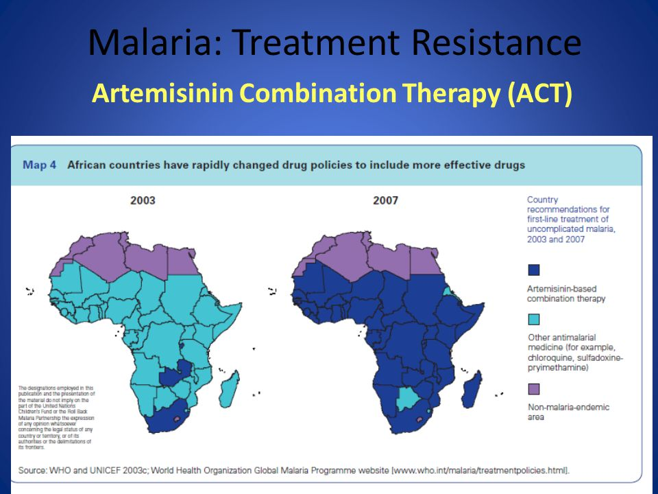 58 Malaria: Treatment Resistance Artemisinin Combination Therapy (ACT)