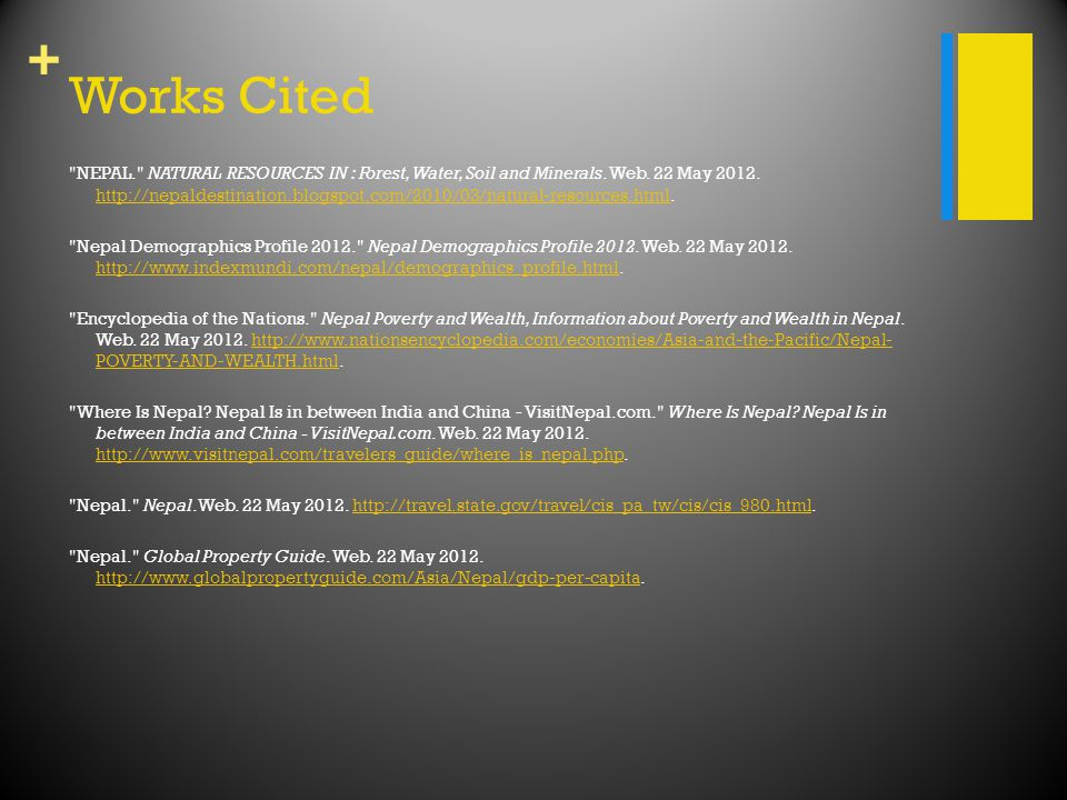 + Works Cited