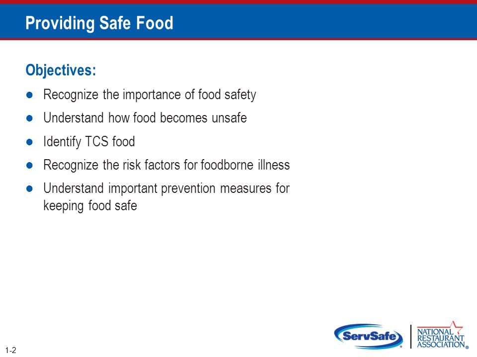 Keeping Food Safe 1-23 Focus on these measures: Controlling time and temperature Preventing cross-contamination Practicing personal hygiene Purchasing from approved, reputable suppliers Cleaning and sanitizing