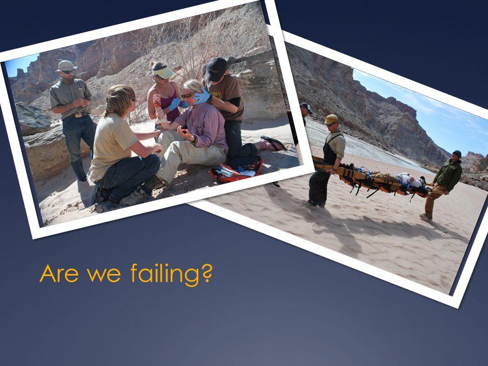 Are we failing?