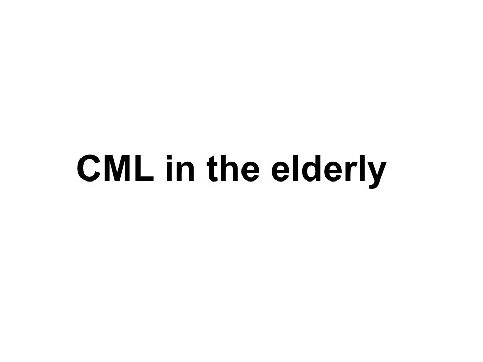 CML in the elderly