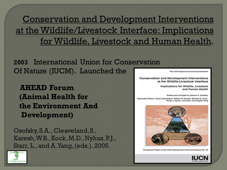 2003 International Union for Conservation Of Nature (IUCM).