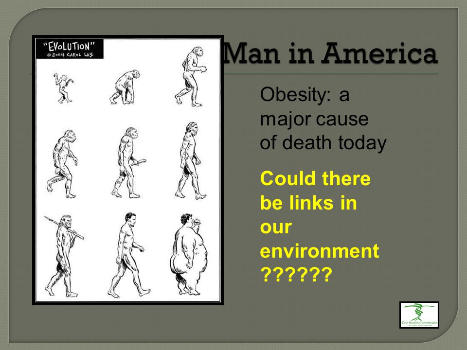 Obesity: a major cause of death today Could there be links in our environment
