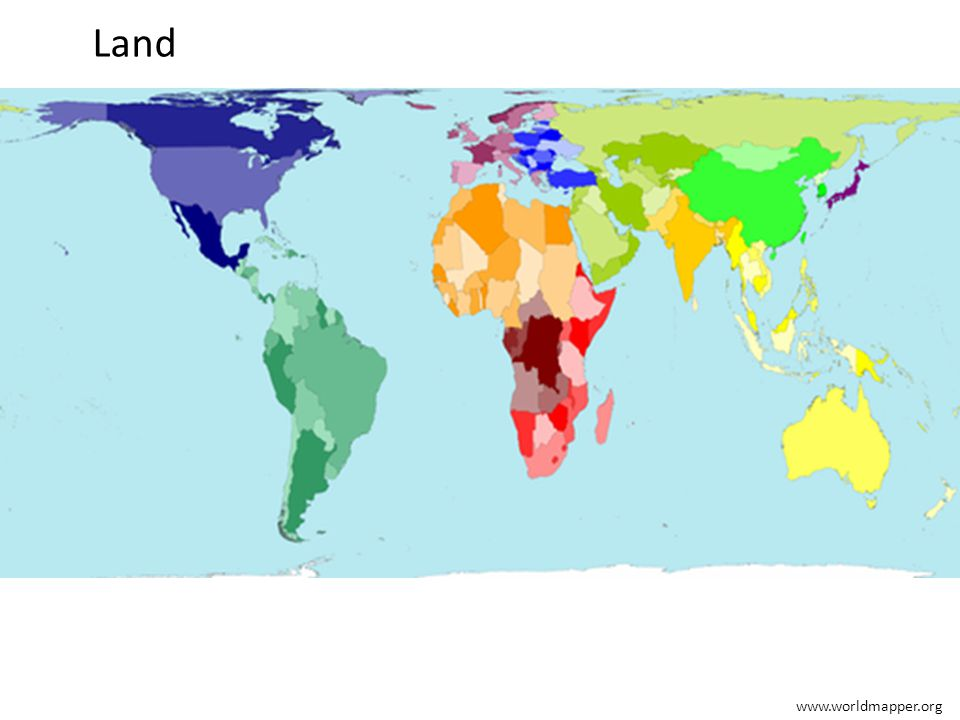 Land www.worldmapper.org