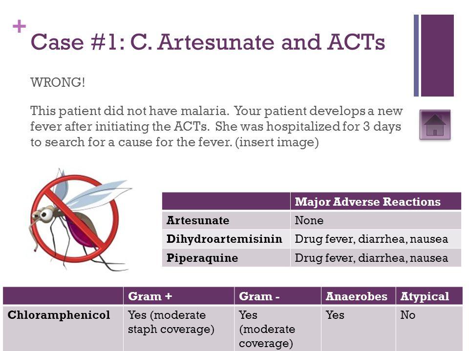 + Case #1: D.Ampicillin/Cloxacillin WRONG. This patient had an upper respiratory infection.