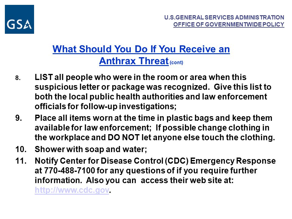 U.S.GENERAL SERVICES ADMINISTRATION OFFICE OF GOVERNMENTWIDE POLICY 8.