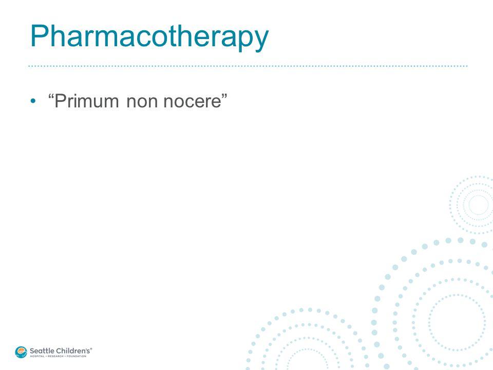"Pharmacotherapy ""Primum non nocere"""