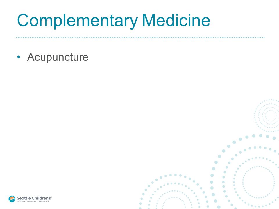Complementary Medicine Acupuncture