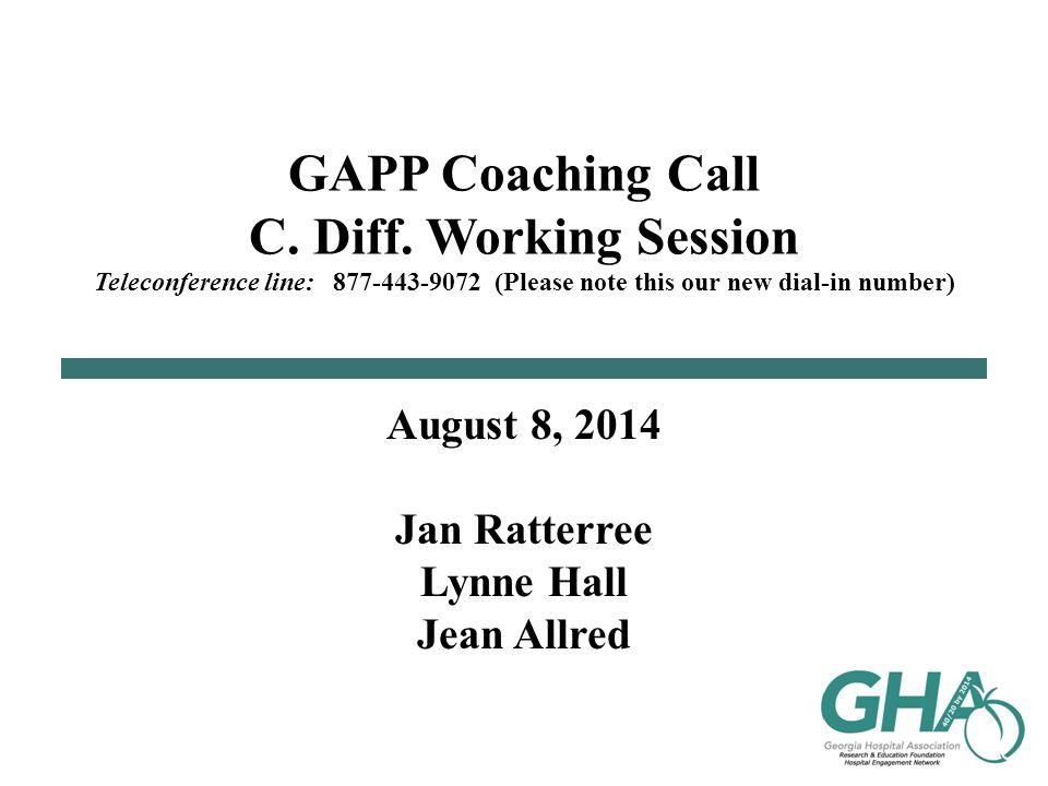 GAPP Coaching Call C.Diff.