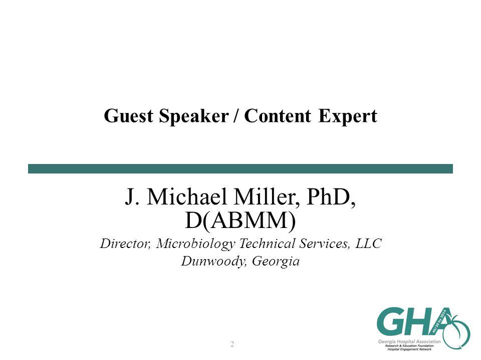 Guest Speaker / Content Expert J.