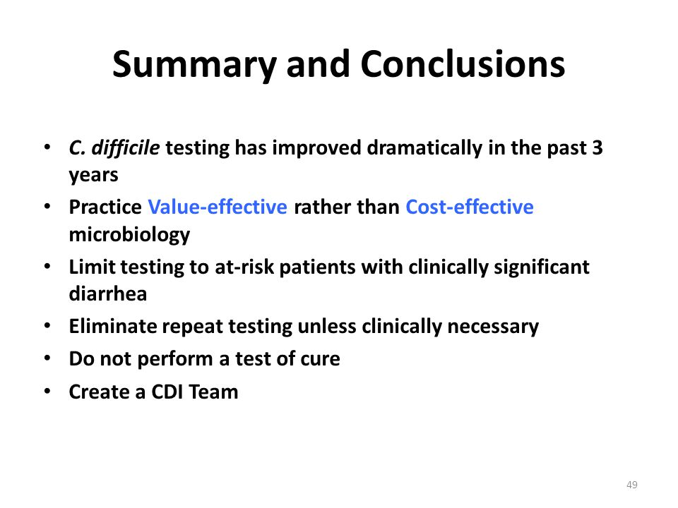 Summary and Conclusions C.