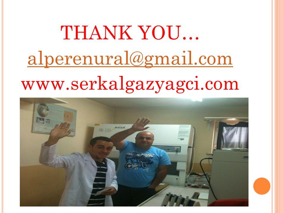 THANK YOU… alperenural@gmail.com www.serkalgazyagci.com