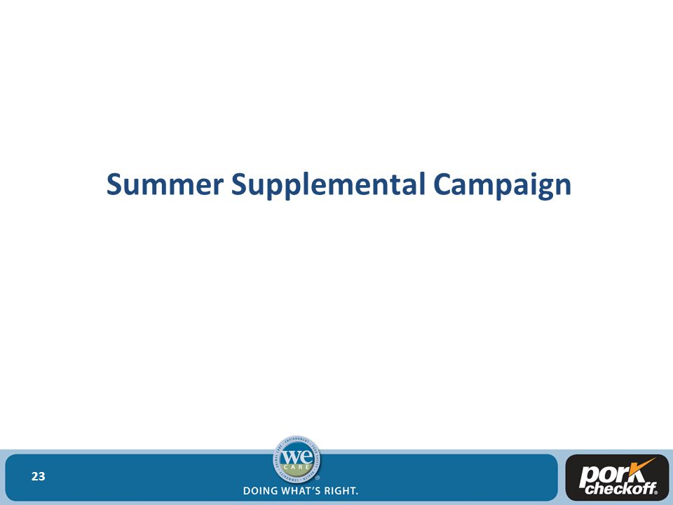 Summer Supplemental Campaign 23