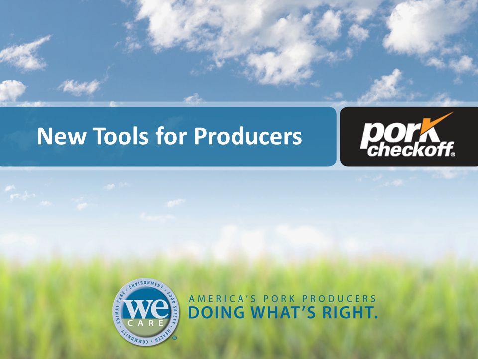 New Tools for Producers
