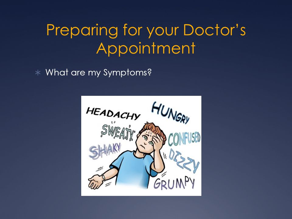 Preparing for your Doctor's Appointment  What are my Symptoms?