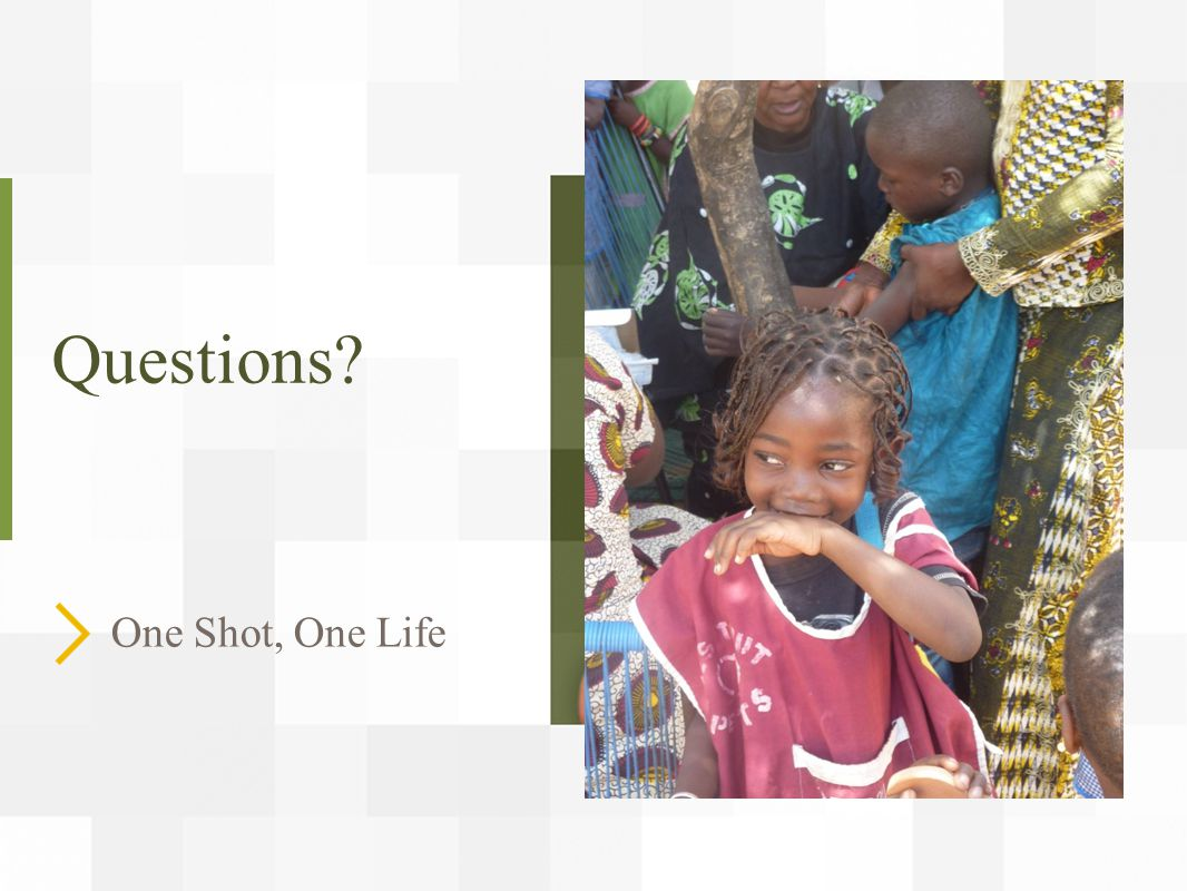 Questions? One Shot, One Life