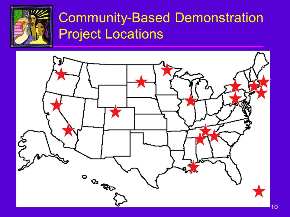 10 Community-Based Demonstration Project Locations