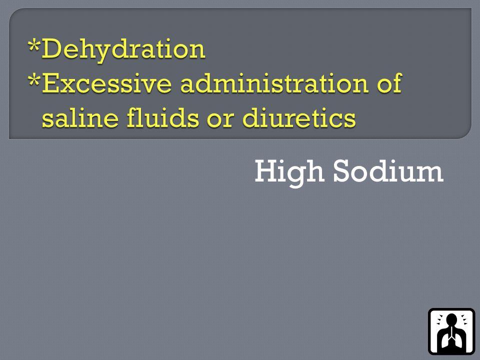 High Sodium