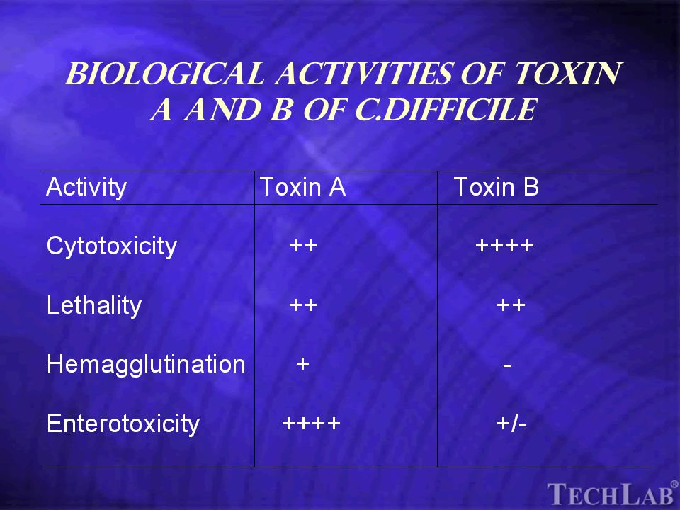 TechLab Biological Activities of Toxin A and B of C.difficile