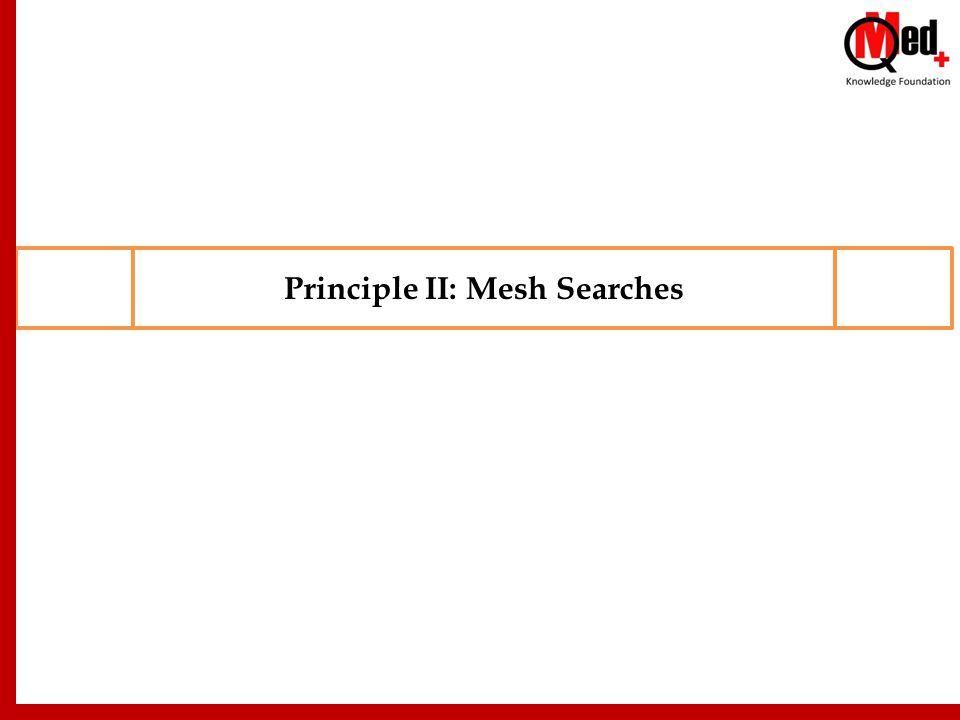 Principle II: Mesh Searches