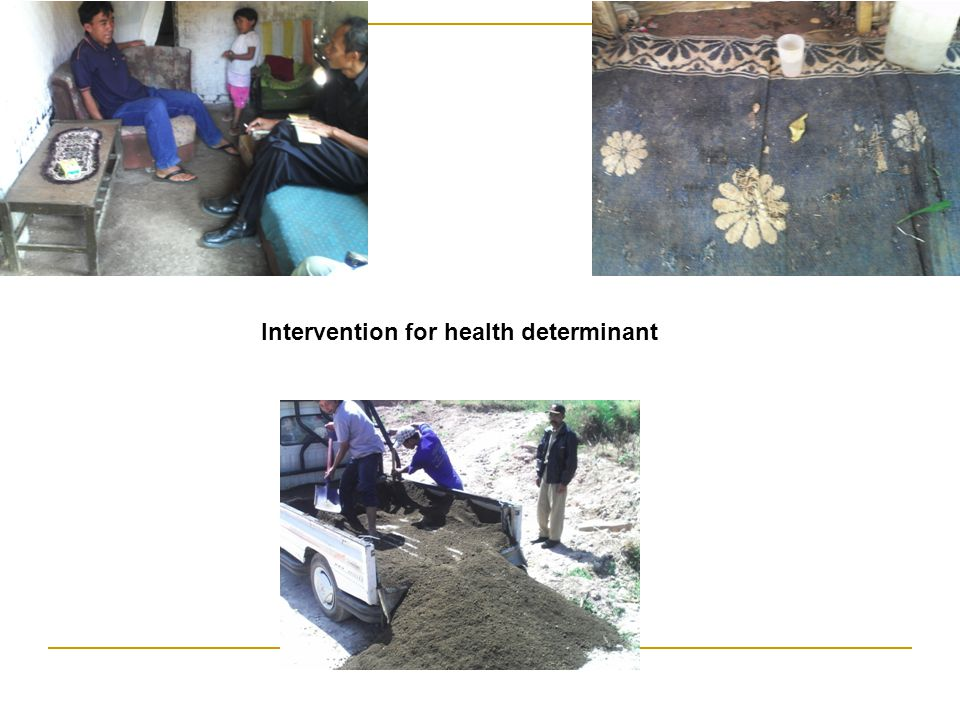 Intervention for health determinant