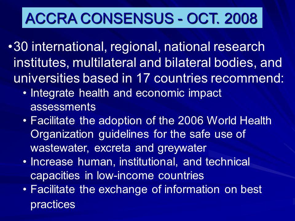 ACCRA CONSENSUS - OCT.