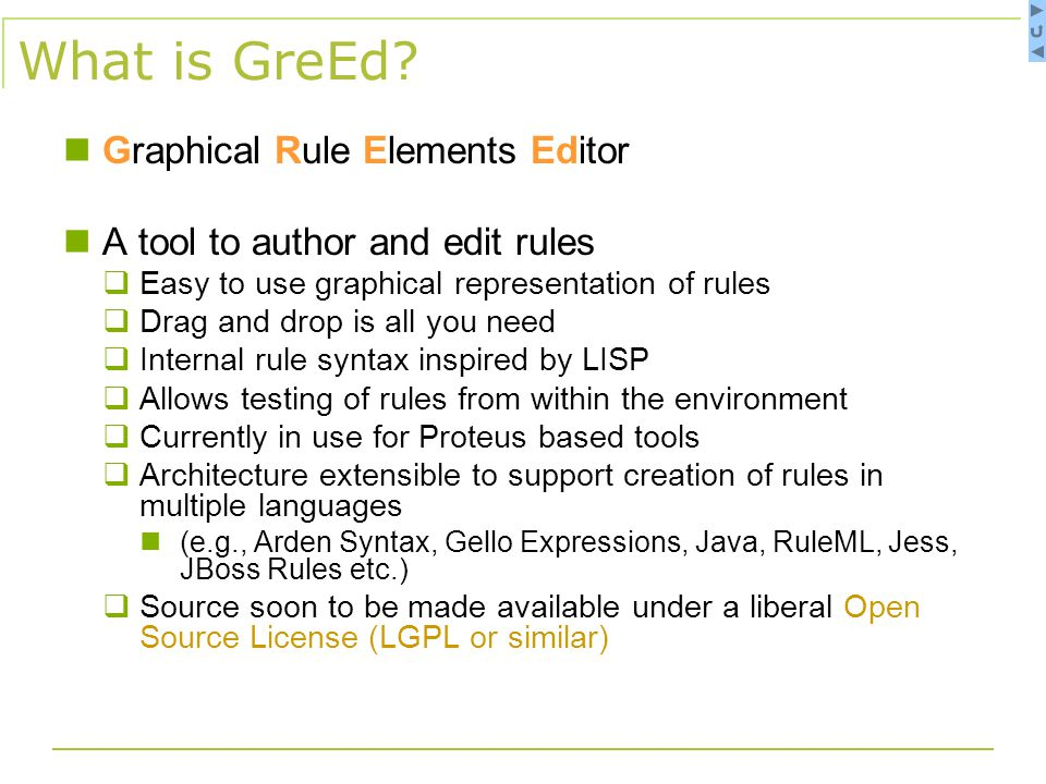 Advantages of the GreEd Approach Standardization - The structure allows translating into different formats.