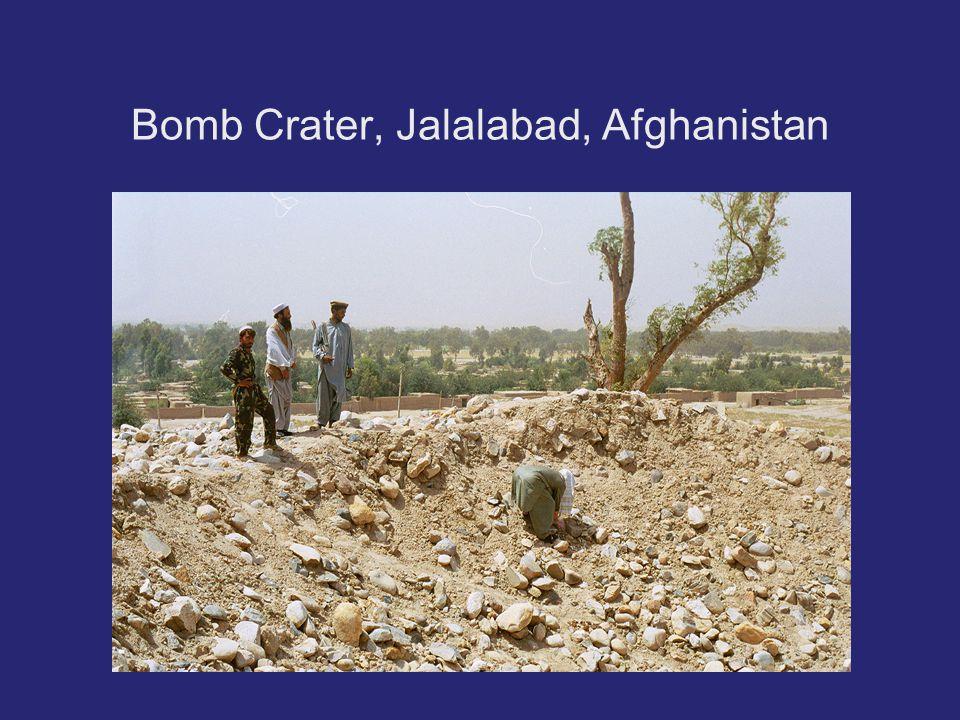 Bomb Crater, Jalalabad, Afghanistan