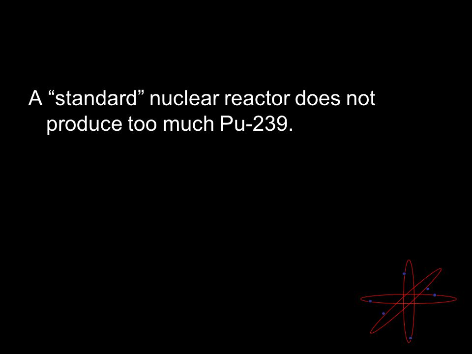 A standard nuclear reactor does not produce too much Pu-239.