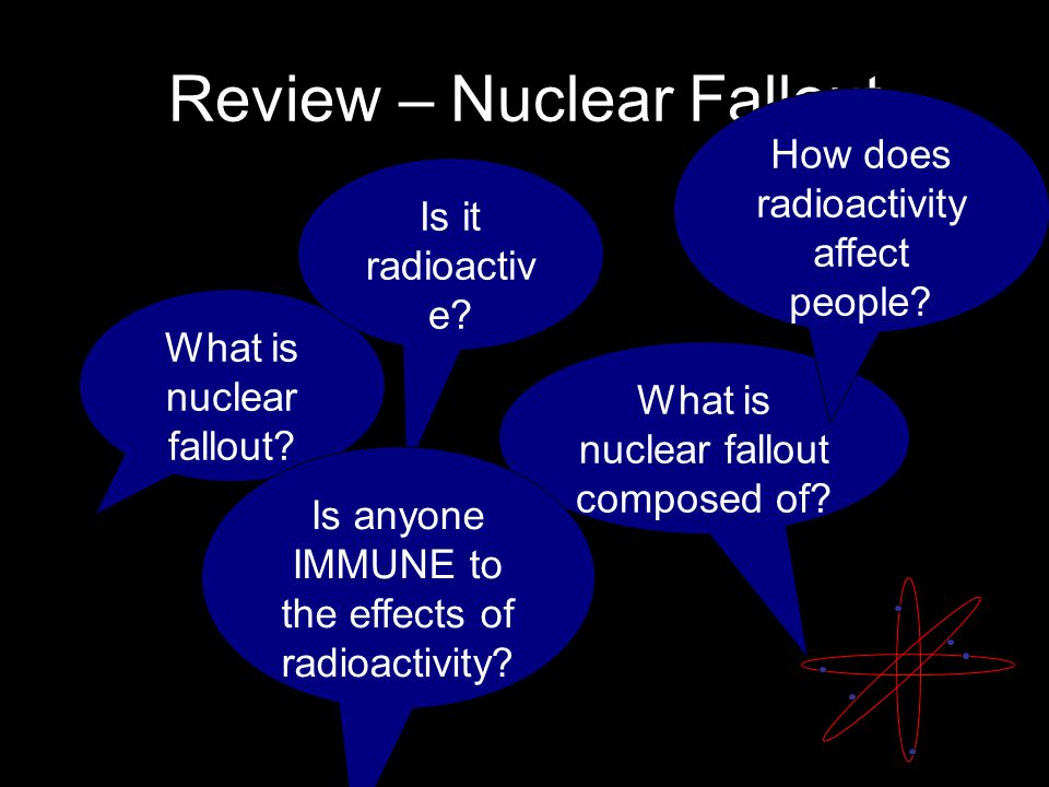 Review – Nuclear Fallout What is nuclear fallout. What is nuclear fallout composed of.