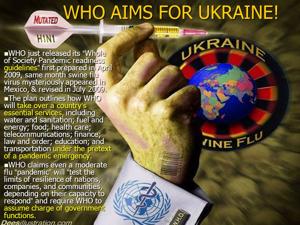WHO AIMS FOR UKRAINE.
