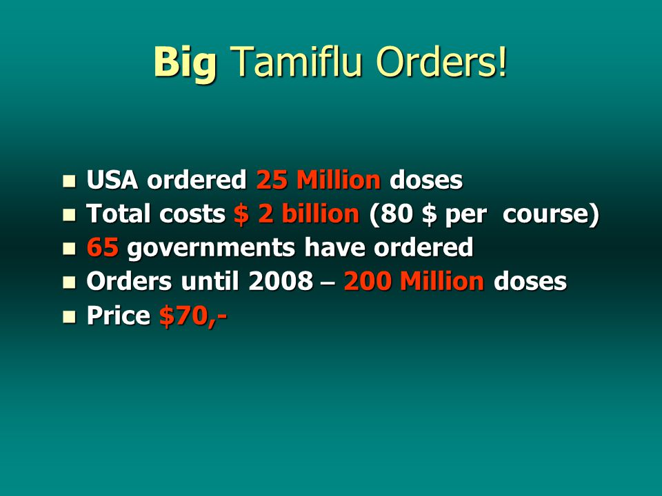 But we are forced to focus on … Influenza A (H1N1) Or Swine Flu Because the Elite Don ' t make money from treating TB, AIDS, measles, malnutrition, or reducing prescription drugs, OH NO.