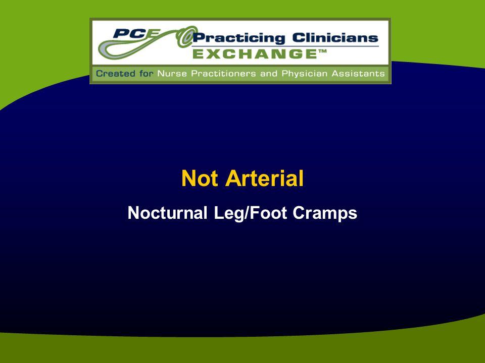 Not Arterial Nocturnal Leg/Foot Cramps