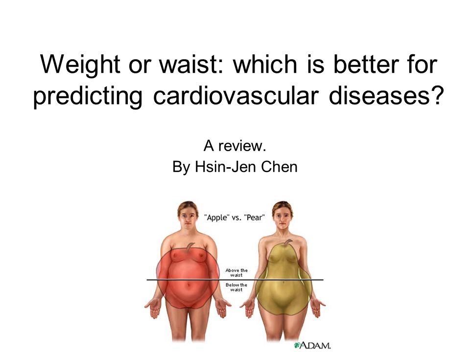 Weight or waist: which is better for predicting cardiovascular diseases? A review. By Hsin-Jen Chen