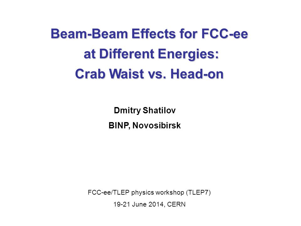 Beam-Beam Effects for FCC-ee at Different Energies: at Different Energies: Crab Waist vs.